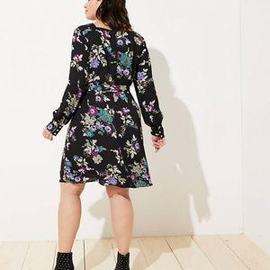 7073be10299 LOFT Dresses - LOFT PLUS WINTER GARDEN SQUARE NECK FLARE DRESS